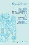 Discours philosophique et discours spirituel - couverture Lardreau