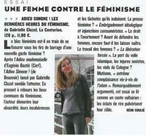 Gabrielle Cluzel dans le Figaro magazine du 13/14 mai 2016